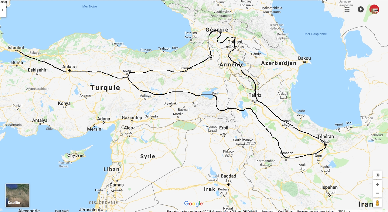TURQUIE - GEORGIE - ARMENIE - IRAN Juillet - Aout 2016
